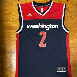John Wall Wizards Jersey Adidas Navy Blue Red S